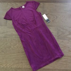 NWT Kensie Stretch Suede Purple Dress